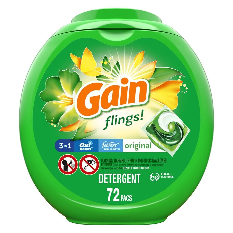 Gain Flings 72-Count Original High-Efficiency Laundry Detergent