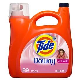 Tide Plus Downy 138-fl oz April fresh HE Liquid Laundry Detergent