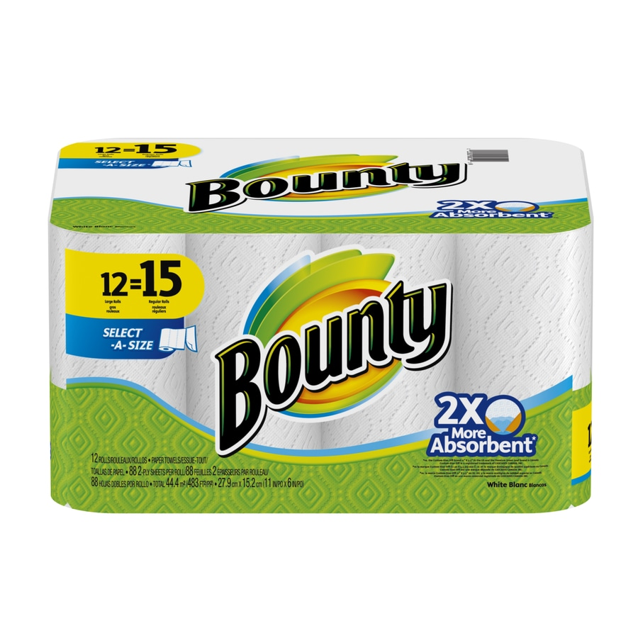 Shop Bounty 12 Count Paper Towels At Lowes Com
