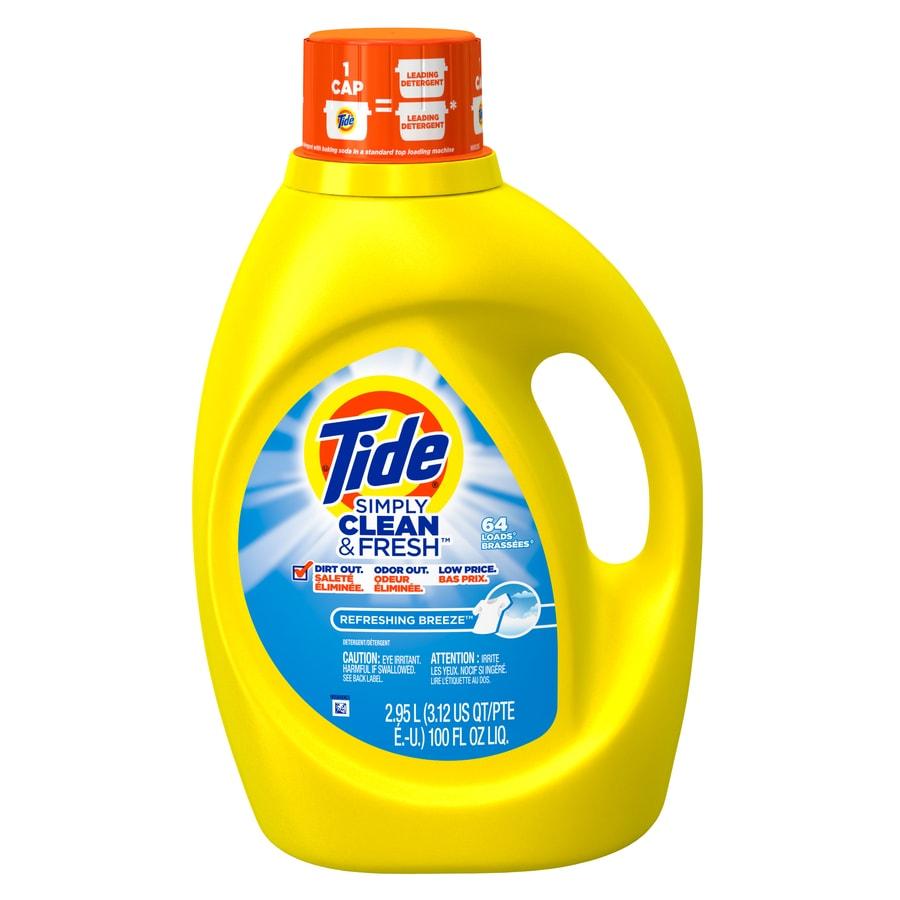 Tide 100 Fl Oz Refreshing Breeze He Liquid Laundry Detergent