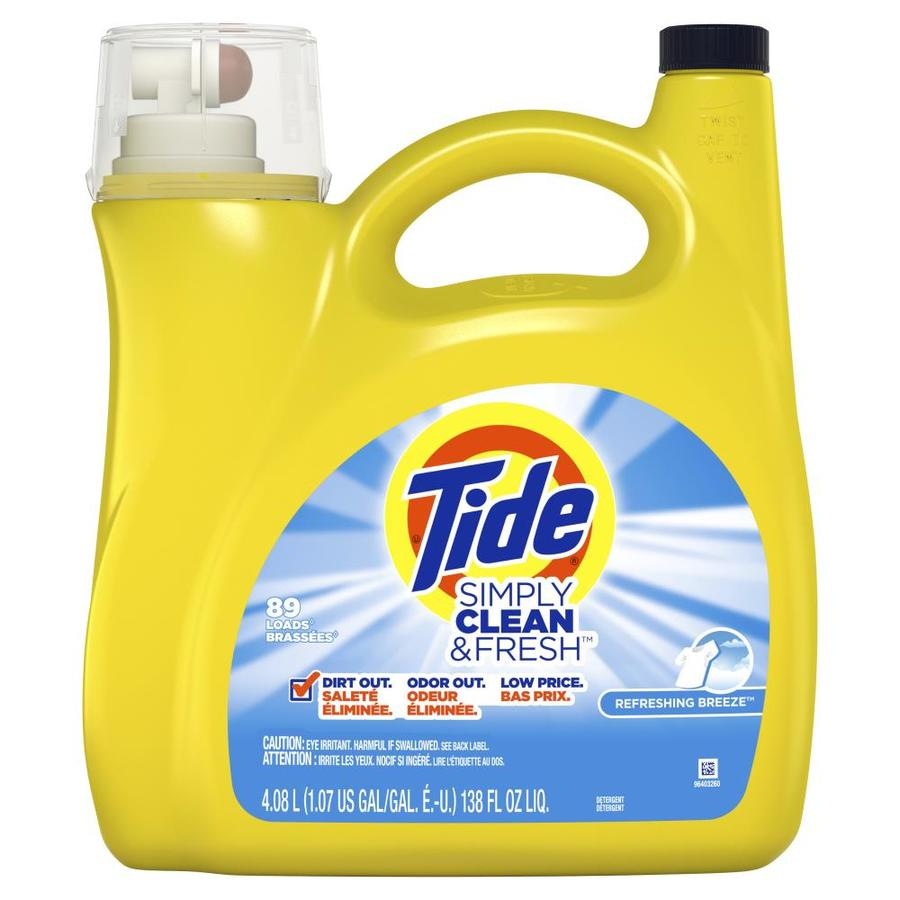 Tide 138-fl oz Refreshing Breeze HE Laundry Detergent