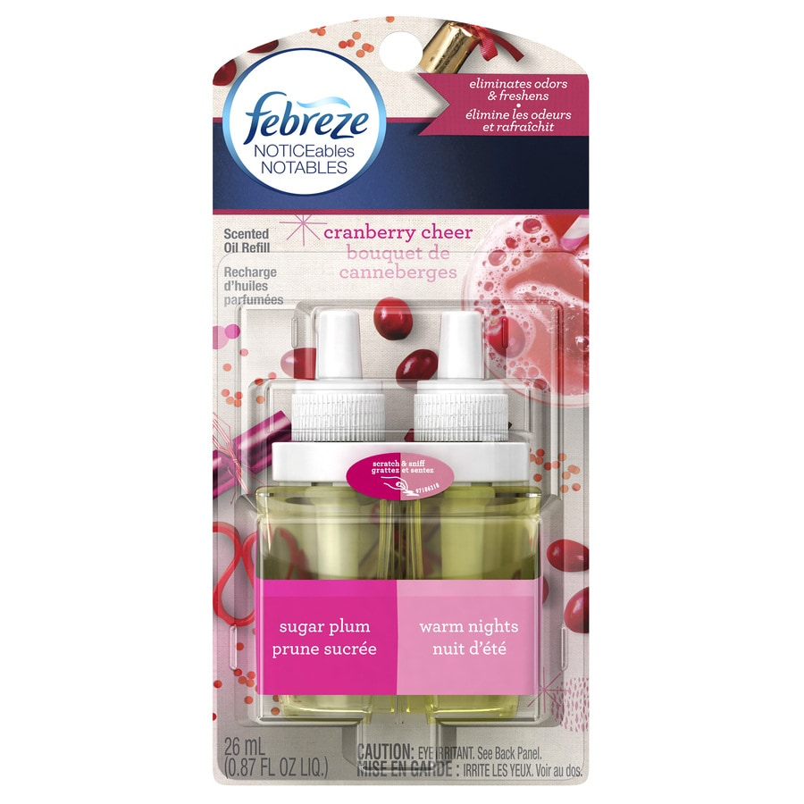Febreze Noticeables Cranberry Cheer Plug-in Electric Air Freshener Kit