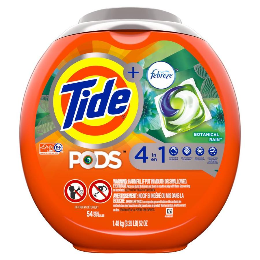 Tide Pods 54-Count Botanical Rain High-Efficiency Laundry Detergent