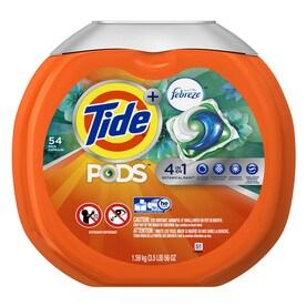 Tide Pods Plus Febreze 54 Count Botanical Rain HE Capsules Laundry Detergent