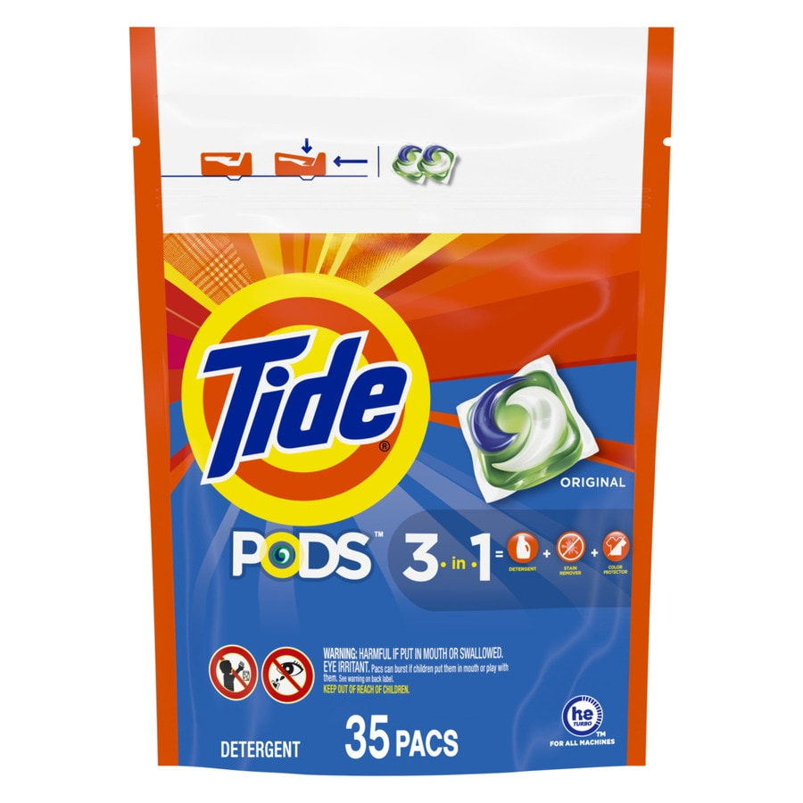 Tide Pods 35 Count Original HE Packets Laundry Detergent