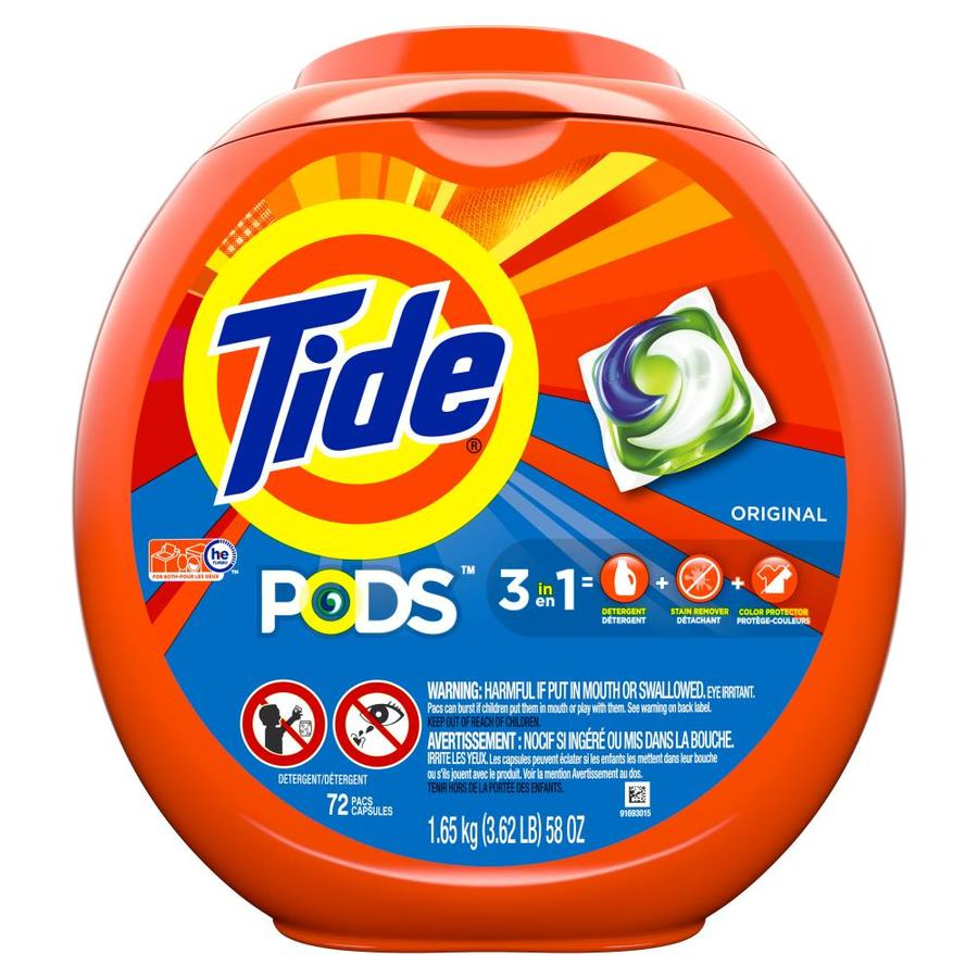 Tide Pods 72-Count Original High-Efficiency Laundry Detergent