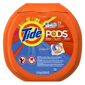 Tide Pods 72 Count Original HE Capsules Laundry Detergent