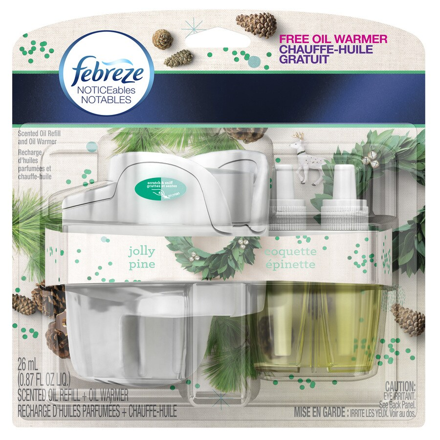 Febreze Noticeables Jolly Pine Plug-in Electric Air Freshener Kit