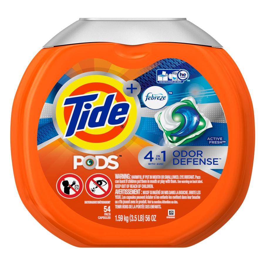 Tide 54-Count Febreze High-Efficiency Laundry Detergent
