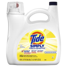 Tide LQ Laundry Detergent Free and Sens 138oz