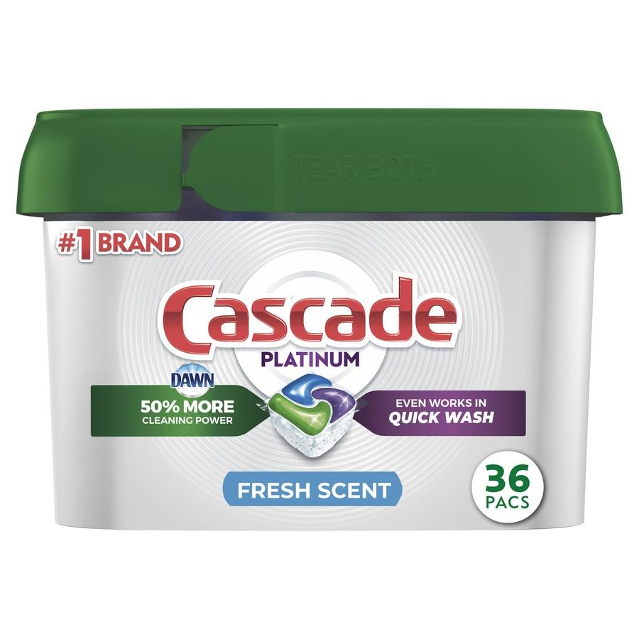 Cascade Platinum 36-Count Fresh Scent Dishwasher Detergent