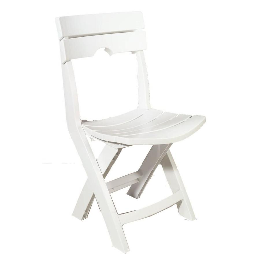 White resin folding chairs - Adams Mfg Corp 1 Count White Resin Folding Patio Dining Chair With