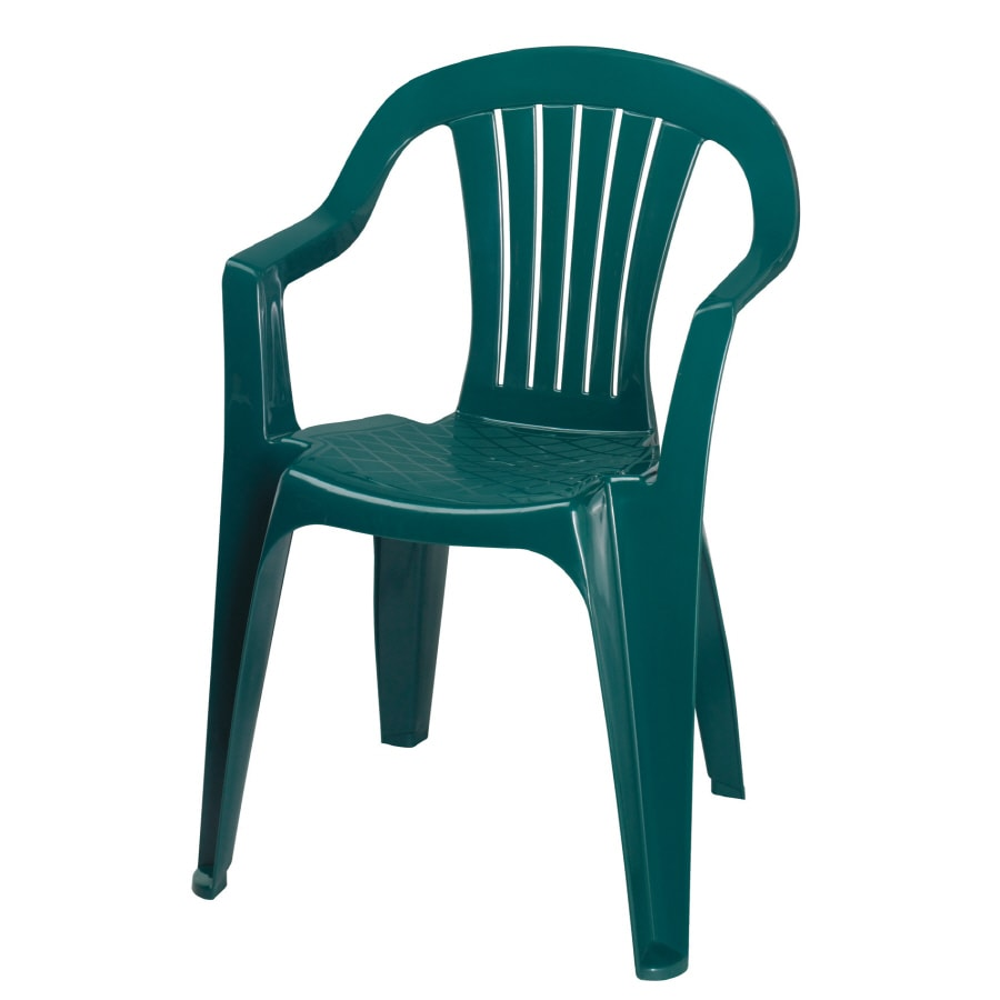 Delightful Adams Mfg Corp Hunter Green Resin Stackable Patio Dining Chair