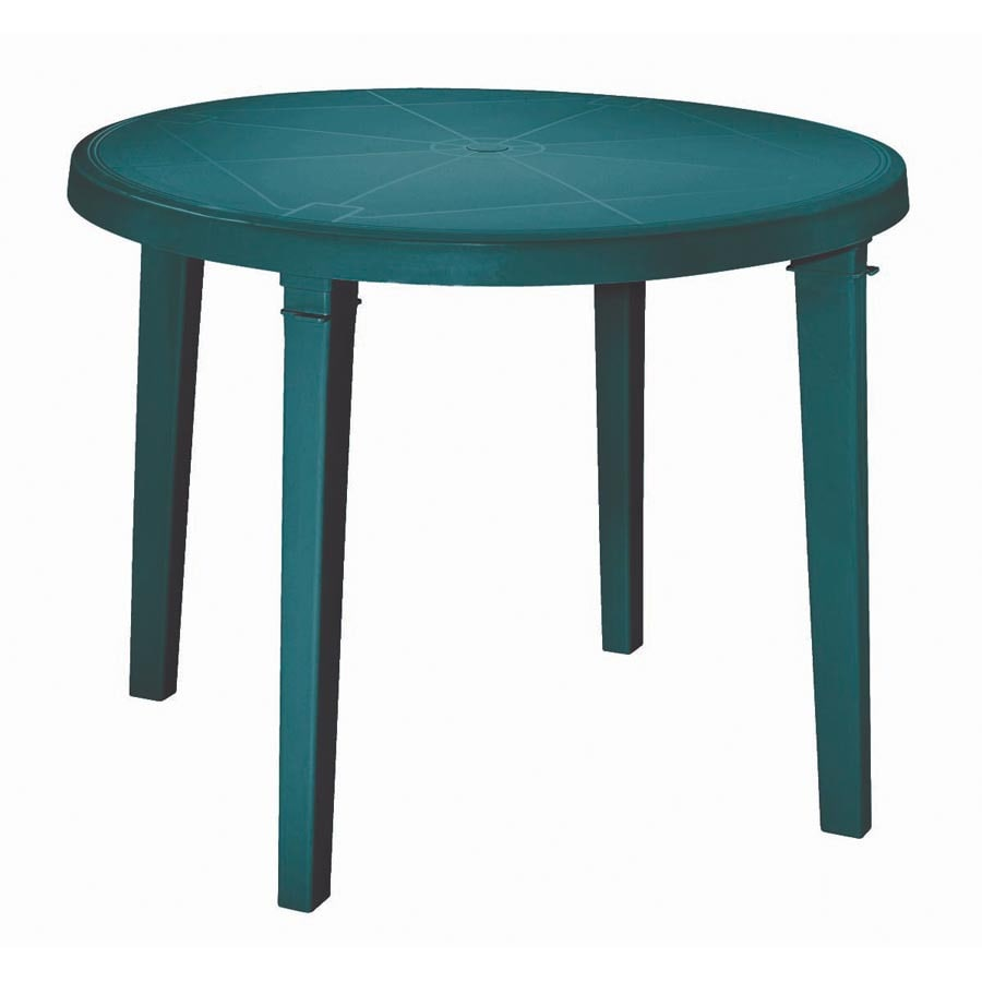 Adams Mfg Corp Amesbury 38 In X Resin Round Patio Dining Table