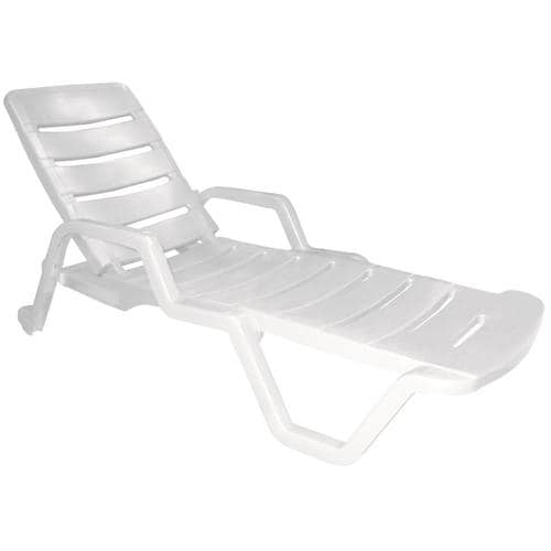 Adams Mfg Corp Stackable Plastic Stationary Chaise Lounge