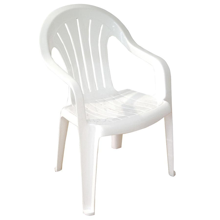 White Resin Stackable Lawn Chair White Plastic Lawn
