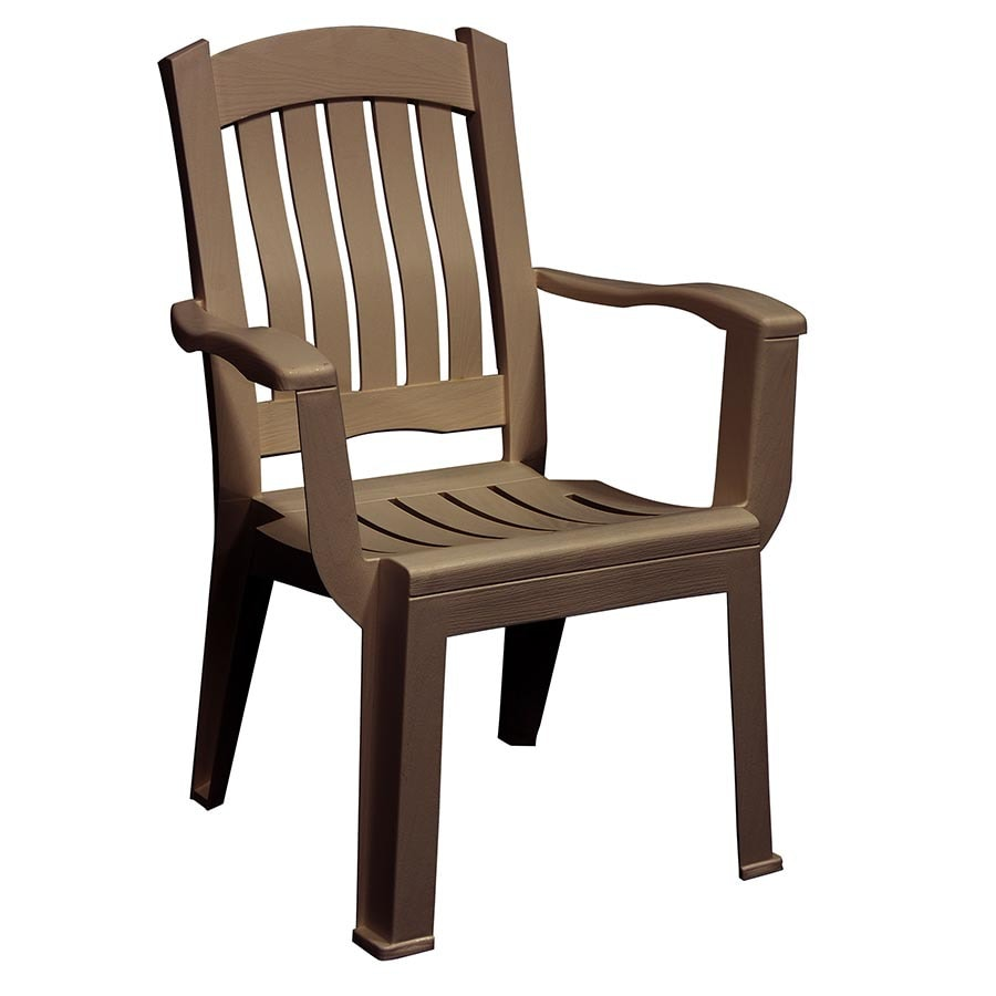 Shop adams mfg corp stackable resin dining chair with slat