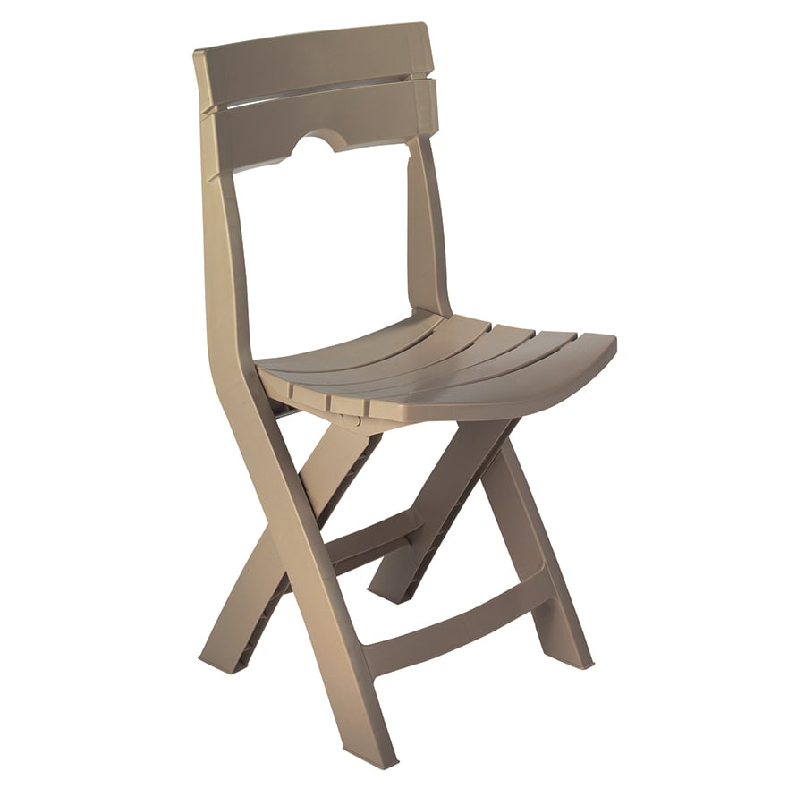 Adams Mfg Corp 1-Count Portobello Resin Folding Patio Dining Chair with