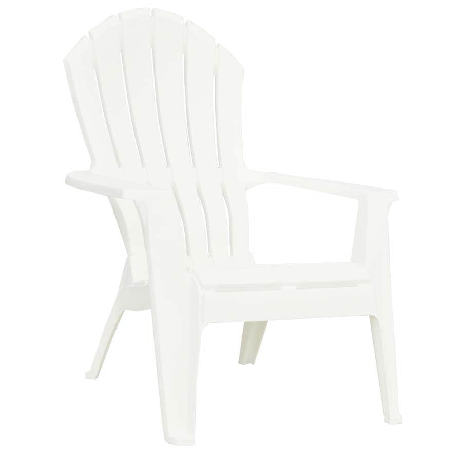 Superieur Adams Mfg Corp White Resin Adirondack Chair