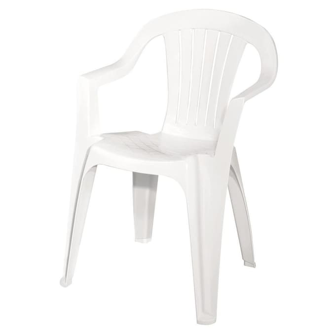 Adams Mfg White Resin Stack Chair, How To Clean White Plastic Outdoor Furniture