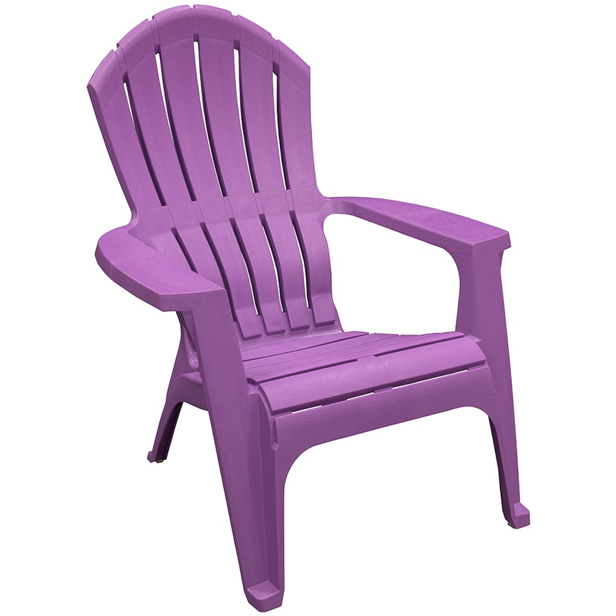 corp bright violet resin stackable patio adirondack chair at