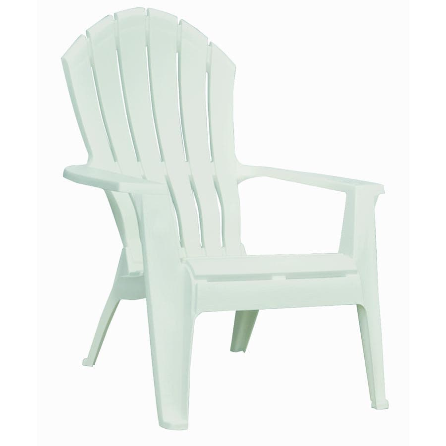 mfg corp white resin stackable patio adirondack chair at
