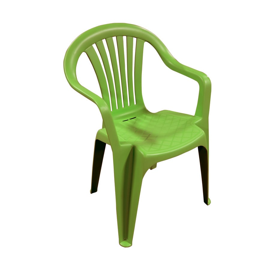 Elegant Adams Mfg Corp Green Resin Stackable Patio Dining Chair