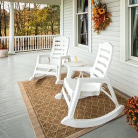 Adams Mfg Corp Resin Rocking Chair At Lowes Com