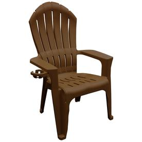 Adams Mfg Corp Easy Stackable Plastic Stationary Adirondack Chair S With Slat Seat