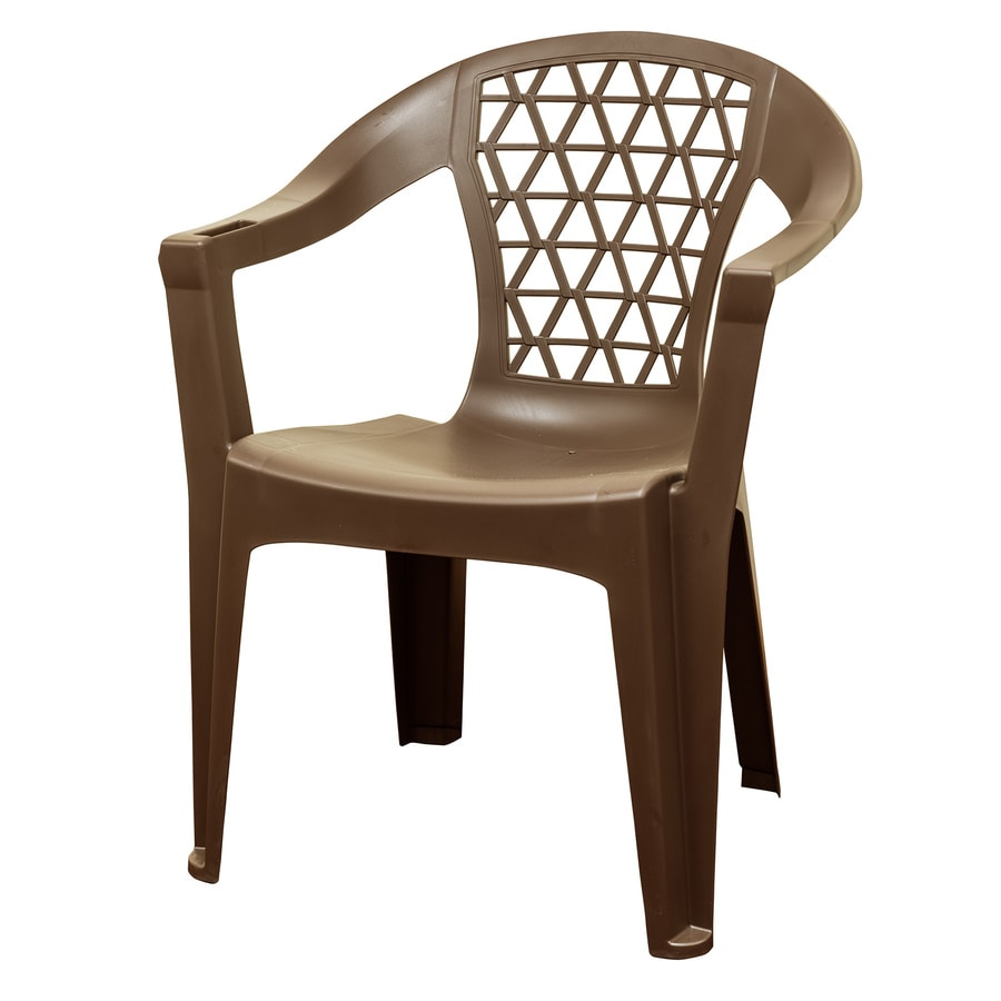 Adams Manufacturing Stackable Earth Brown Plastic Frame Stationary Dining Chair S With Solid Seat In The Patio Chairs Department At Lowes Com