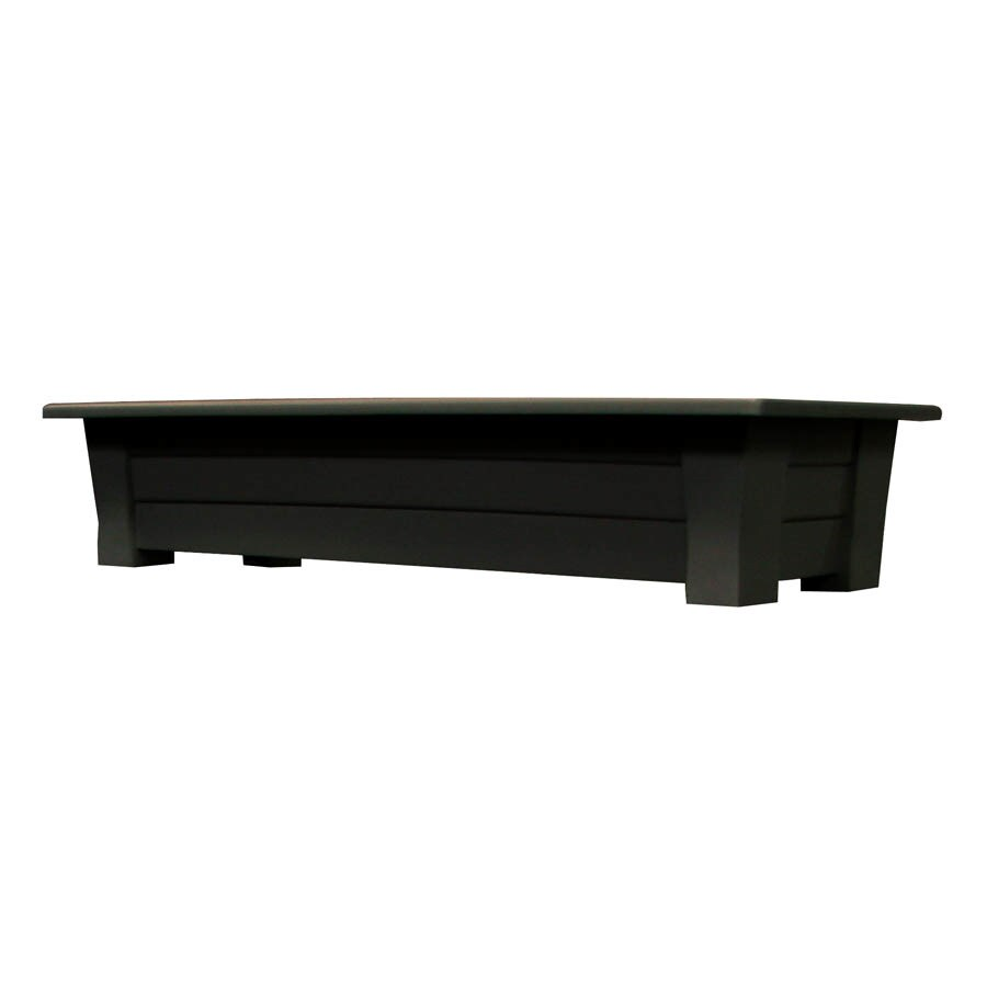 Adams Mfg Corp 36-in x 8-in Earth Brown Resin Planter