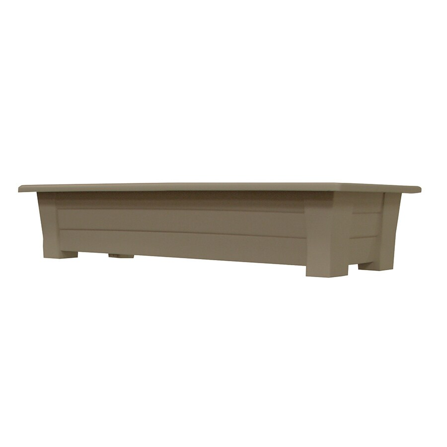 Adams Mfg Corp 36-in x 8-in Portobello Resin Planter