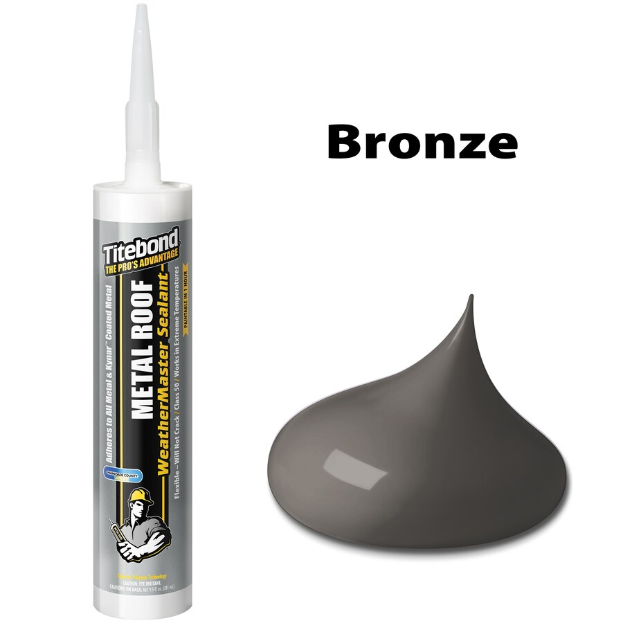 Titebond Weathermaster 10.1-fl oz Bronze Paintable Advanced Sealant Caulk