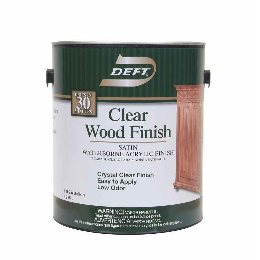 Shop Deft Water Base Clear Wood Finish 128 Fl Oz Interior Stain At