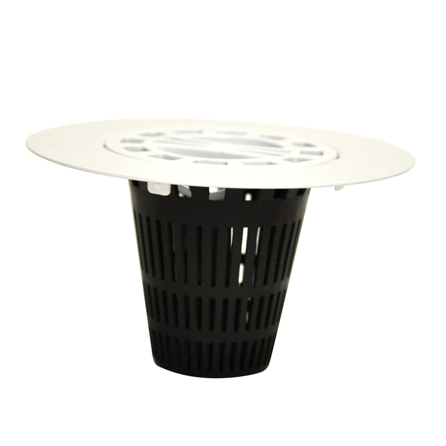 Danco White Plastic Drain Cover with Hair Catcher Basket