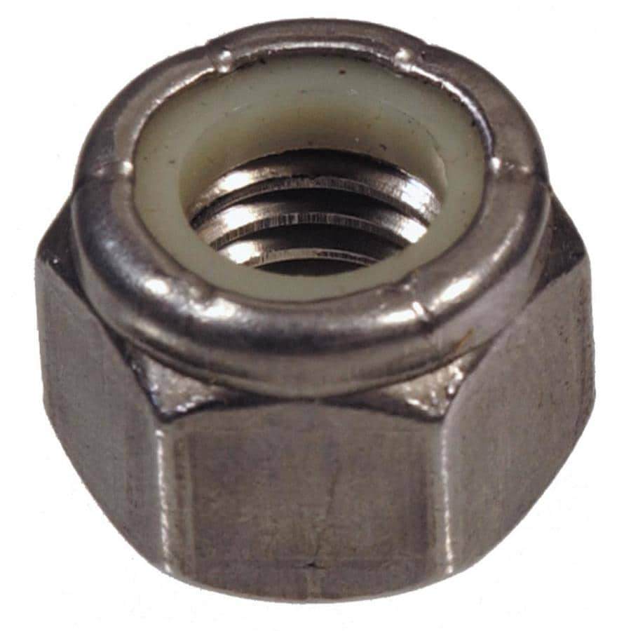 The Hillman Group 10-Count #6 Stainless Steel Standard (SAE) Nylon Insert Lock Nuts