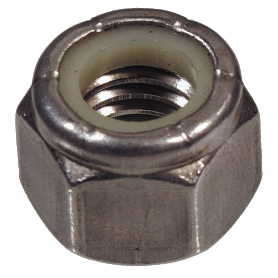 The Hillman Group 6-Count 1/4-in Stainless Steel Standard (SAE) Nylon Insert Lock Nuts
