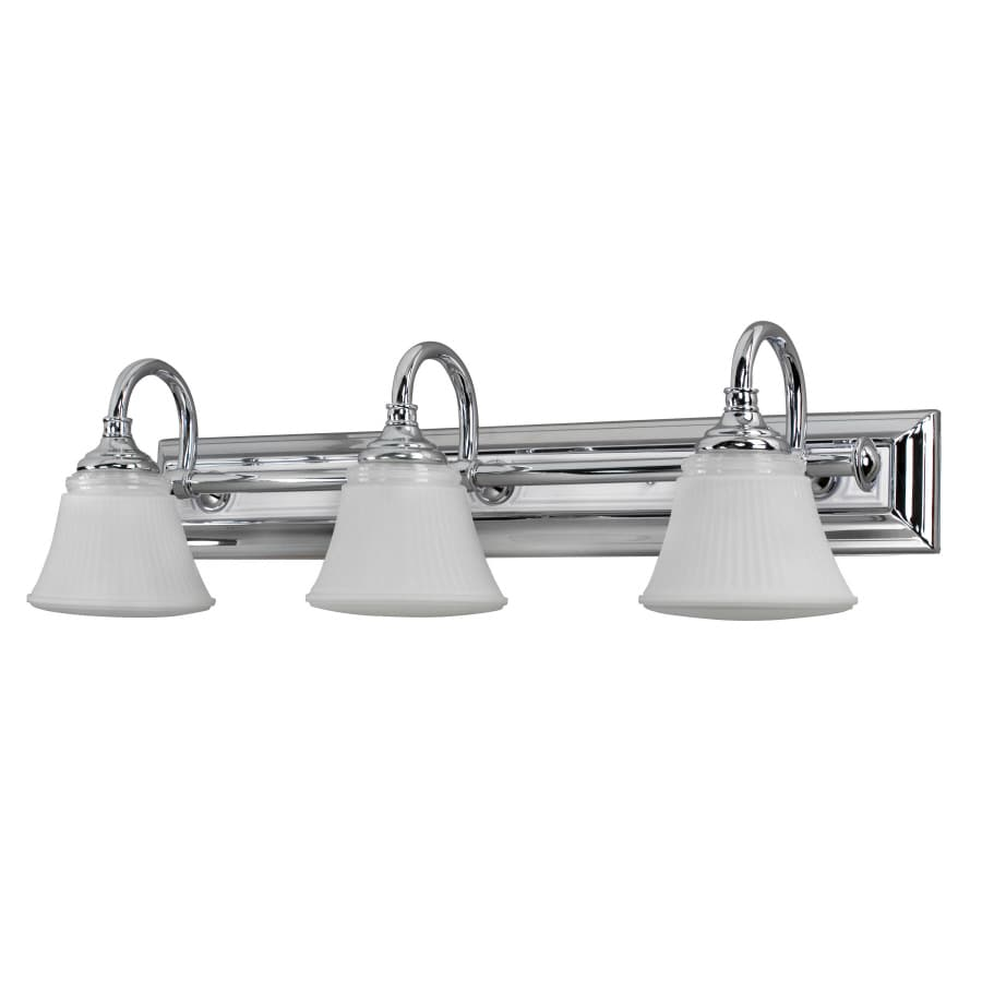 Portfolio 3-Light Polish Chrome Finish Bathroom Vanity Light