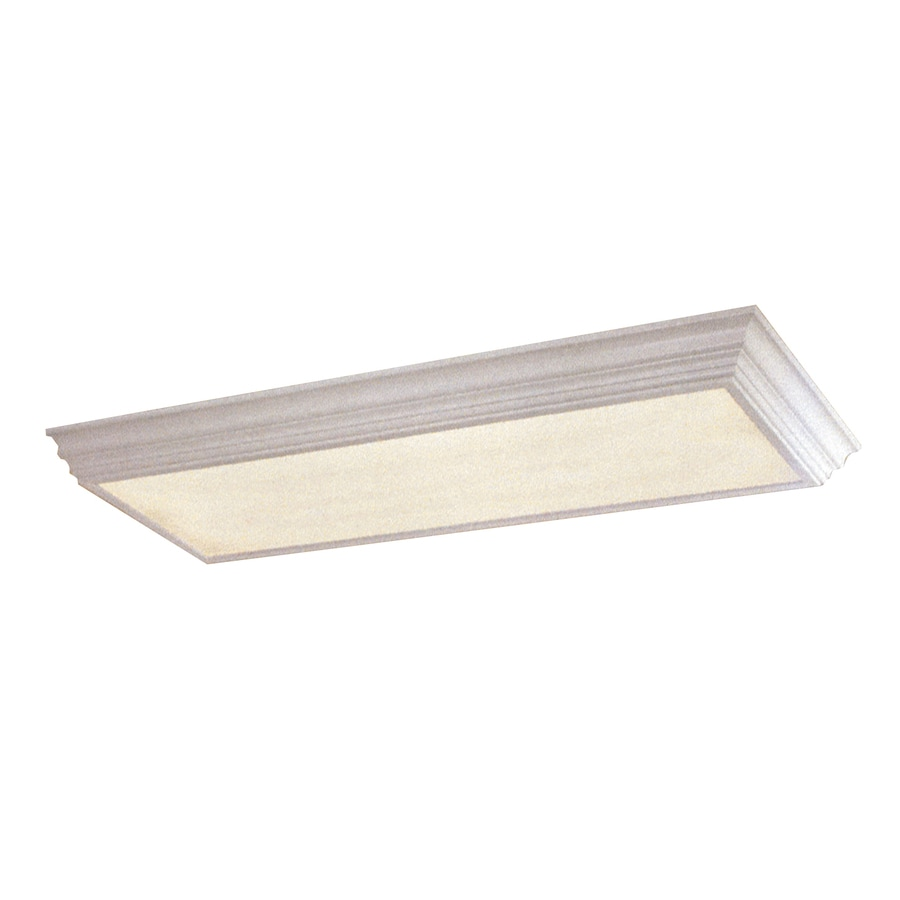 Shop Portfolio Frosted Acrylic Flush Mount Fluorescent Light (Common ...