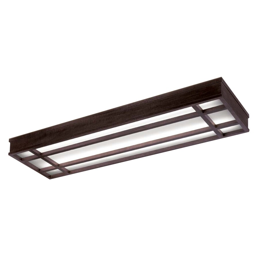 Portfolio Bronze Flush Mount Fluorescent Light ENERGY STAR (Common: 4-ft; Actual: 49.31-in)