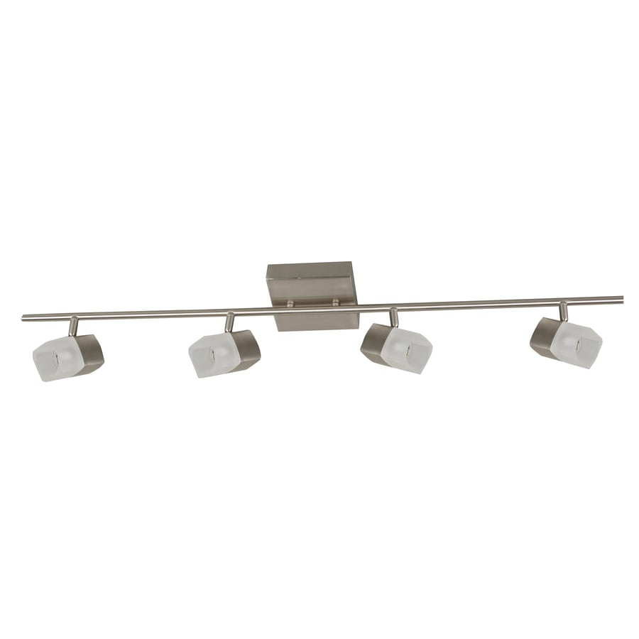 Portfolio Altus 4-Light Brush Nickel Finish Flush Mount Fixed Track Light Kit