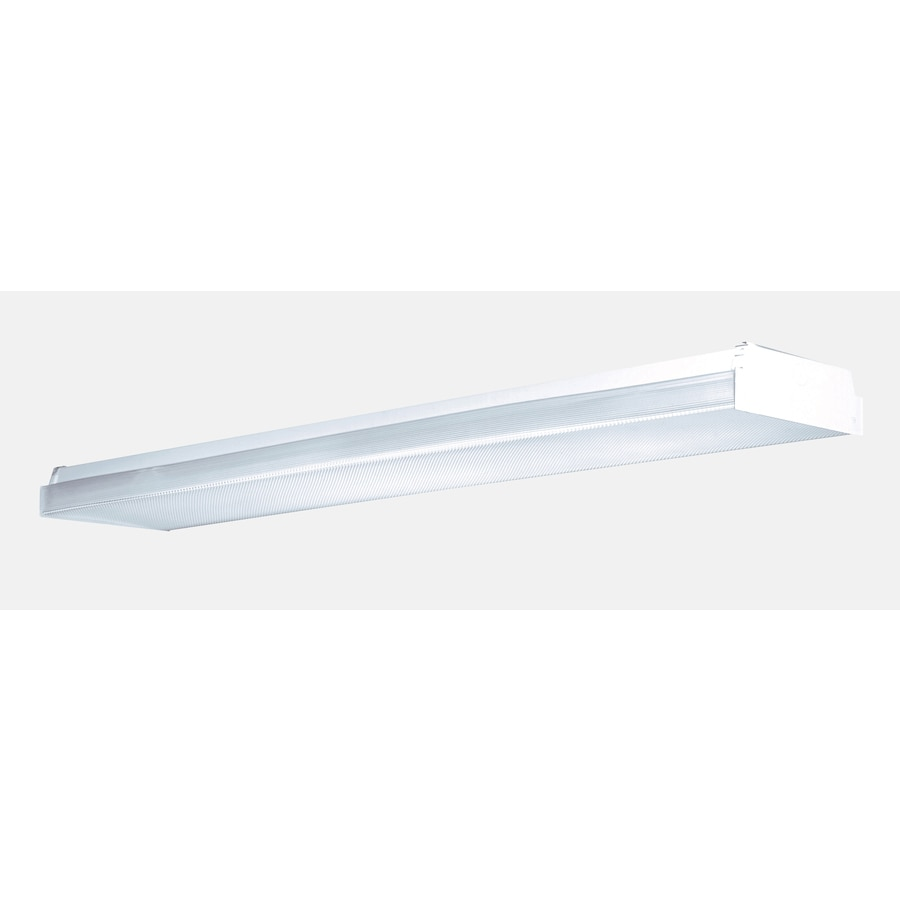 Shop flush mount fluorescent lights at lowes utilitech prismatic acrylic ceiling fluorescent light common 4 ft actual 4812 arubaitofo Image collections
