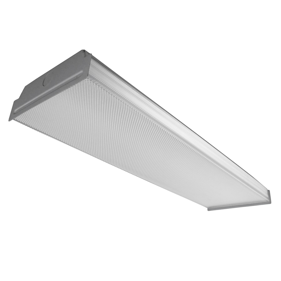Shop flush mount fluorescent lights at lowes utilitech prismatic acrylic ceiling fluorescent light common 2 ft actual 2475 mozeypictures Gallery