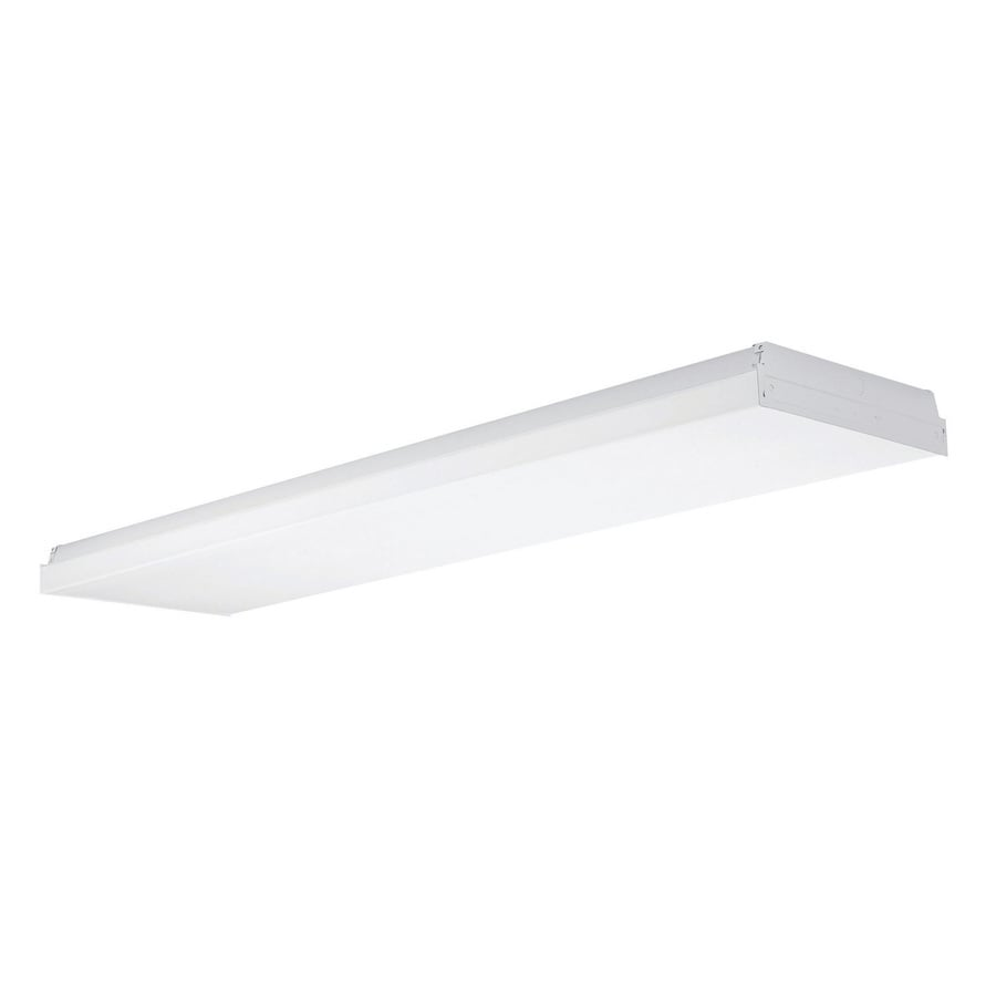 Shop flush mount fluorescent lights at lowes utilitech white acrylic ceiling fluorescent light common 4 ft actual 4812 arubaitofo Image collections
