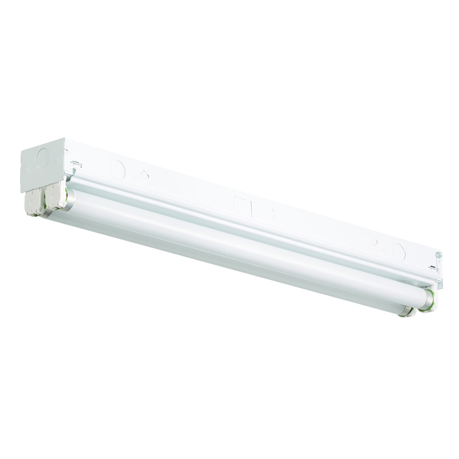 Shop flush mount fluorescent lights at lowes utilitech ceiling fluorescent light common 2 ft actual 24 in workwithnaturefo