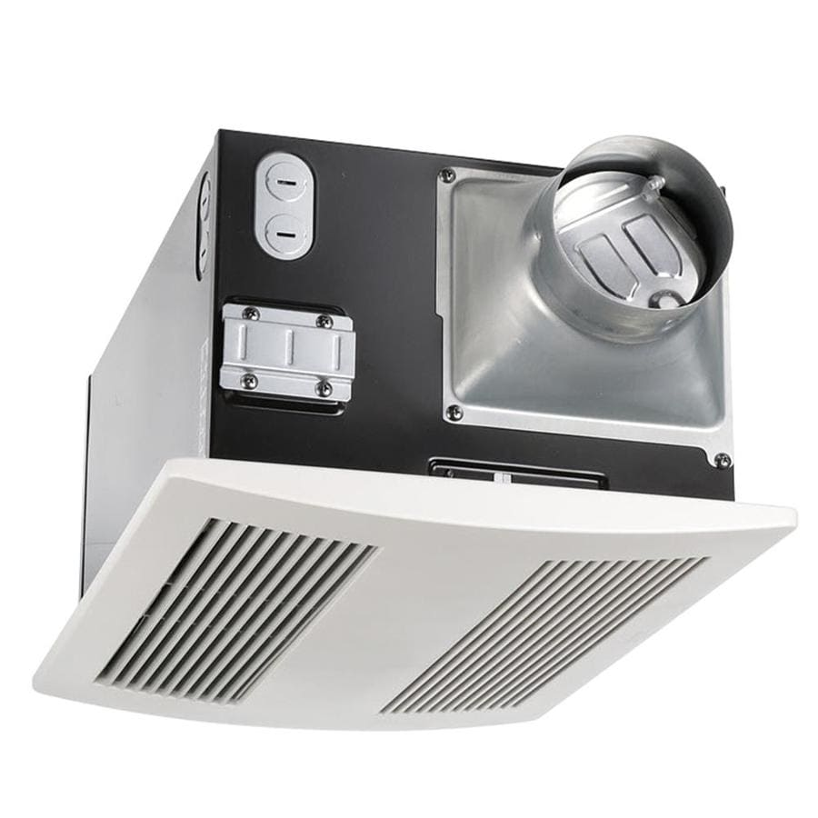 Panasonic 0.6-Sone 110-CFM White Bathroom Fan with Integrated Heater ENERGY STAR