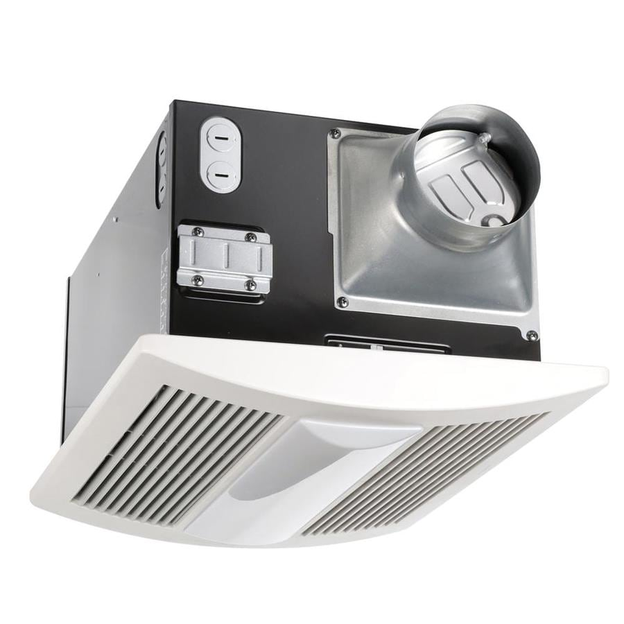 Shop bathroom exhaust fans parts at lowes panasonic 07 sone 110 cfm white bathroom fan with integrated heater and light energy mozeypictures Images