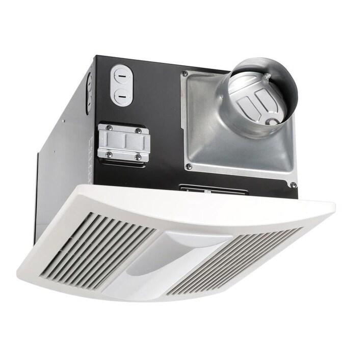 Panasonic Whisperwarm 0 7 Sone 110 Cfm White Bathroom Fan In The Bathroom Fans Heaters Department At Lowes Com