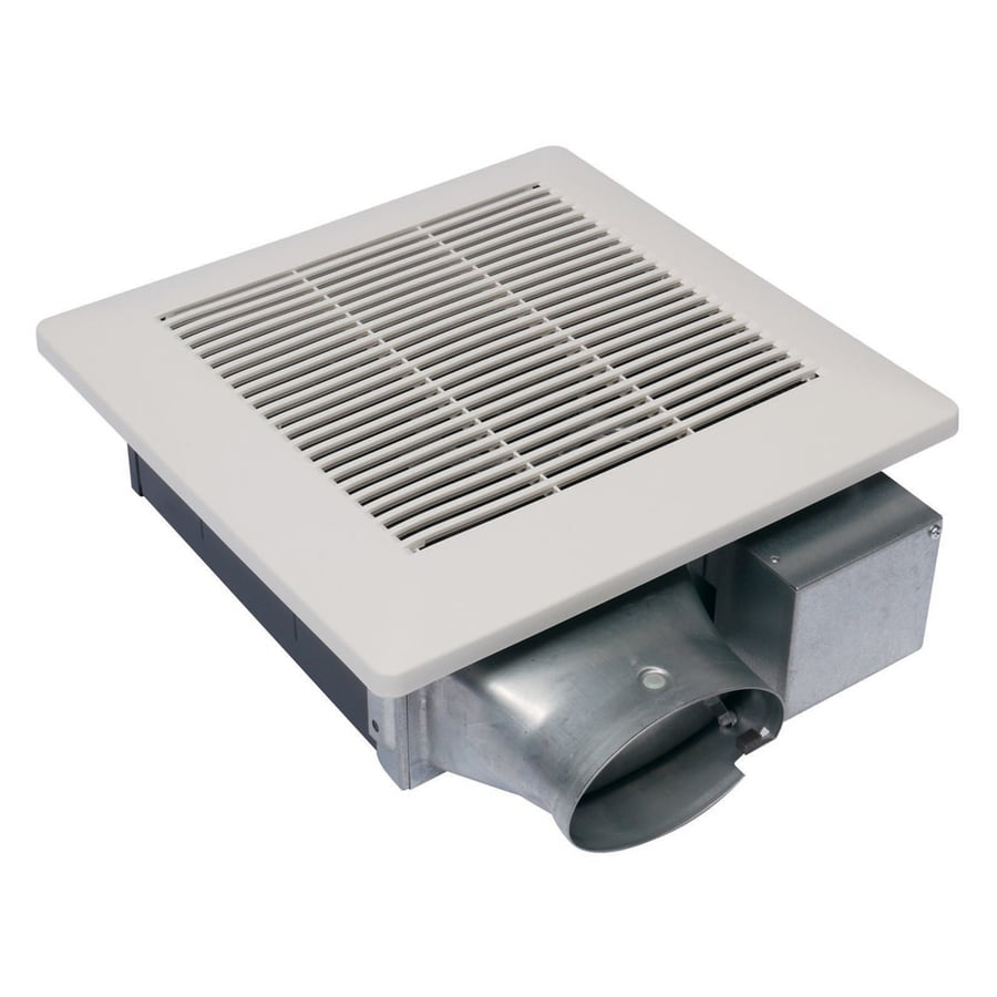 Shop panasonic 1 5 sone 100 cfm white bathroom fan at for Bathroom exhaust fan lowes