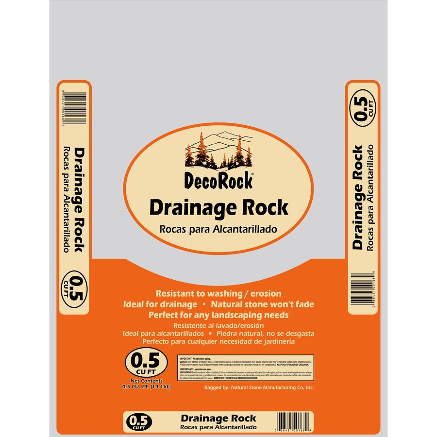 0 5 Cu Ft Brown Drainage Rock